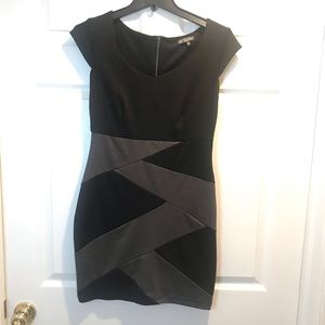 Black and Gray stretch mini, never worn